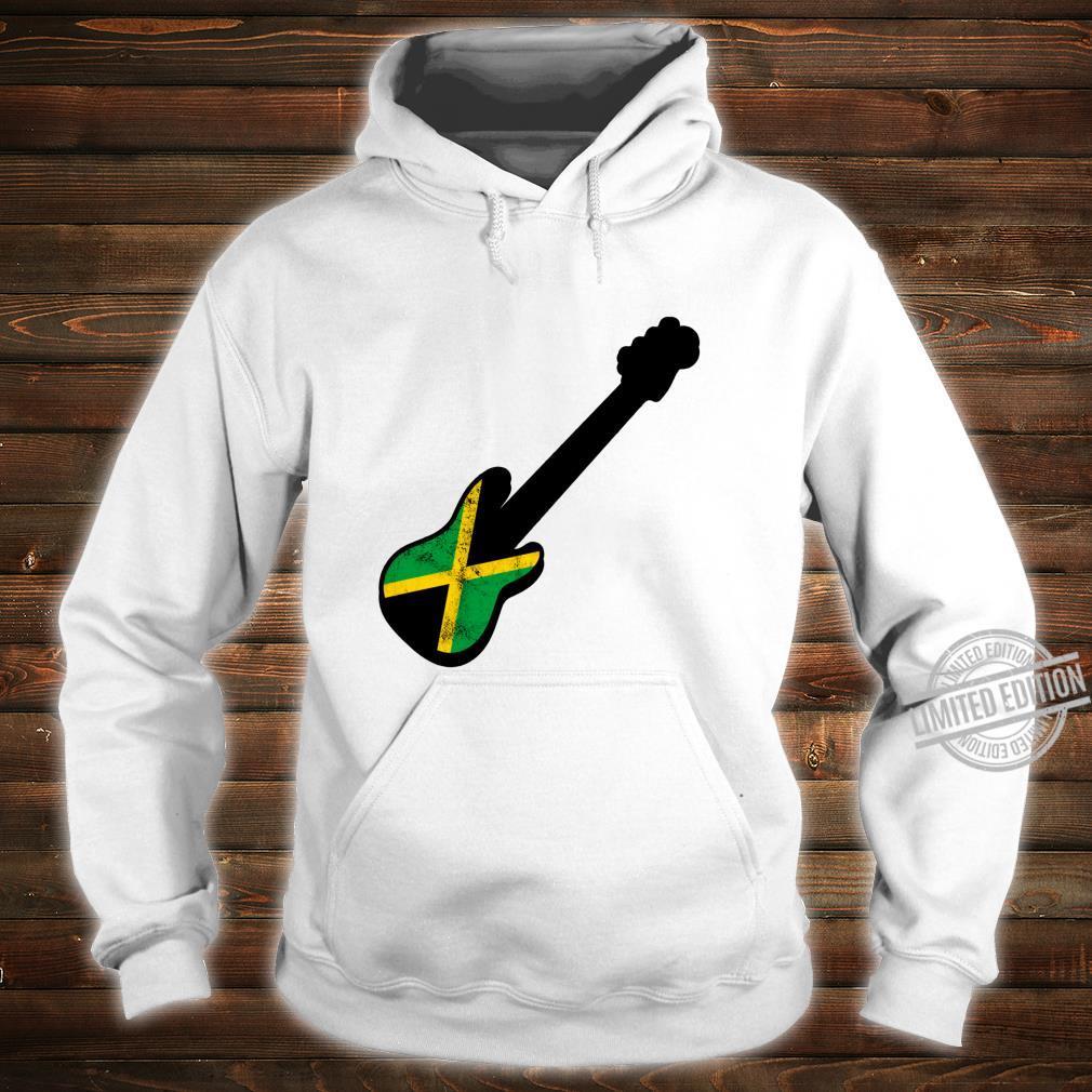 Bassist Jamaican Flag Rasta Reggae Bass Silhouette Shirt hoodie