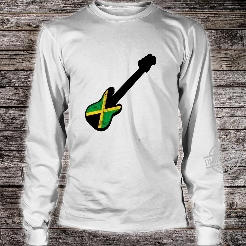 Bassist Jamaican Flag Rasta Reggae Bass Silhouette Shirt long sleeved