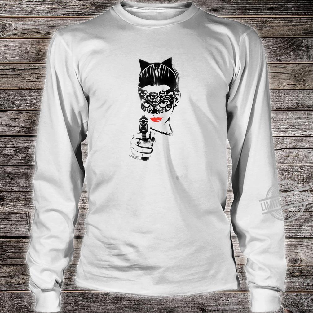 Batman Dark Knight Rises Catwoman Cat Gun Shirt long sleeved