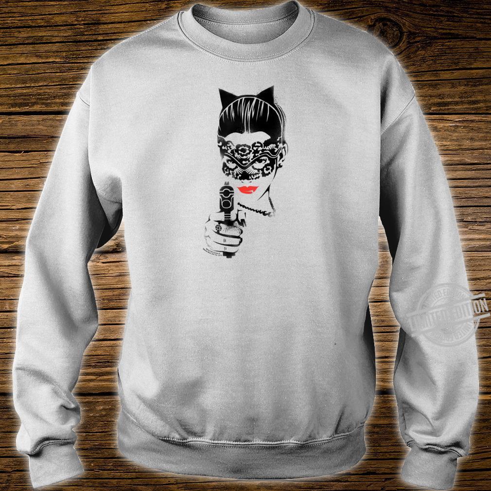 Batman Dark Knight Rises Catwoman Cat Gun Shirt sweater