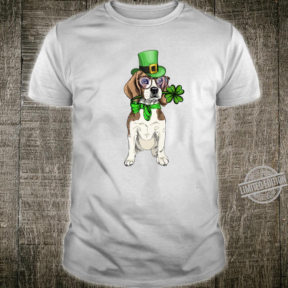 Beagle Irish Shamrock St Patrick's Day Dog Shirt