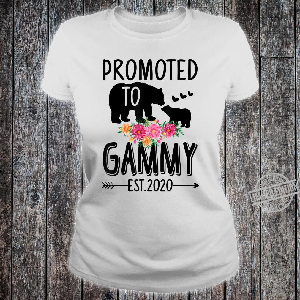 Bear Promoted to Gammy Est 2020 Mother's Day Shirt ladies tee