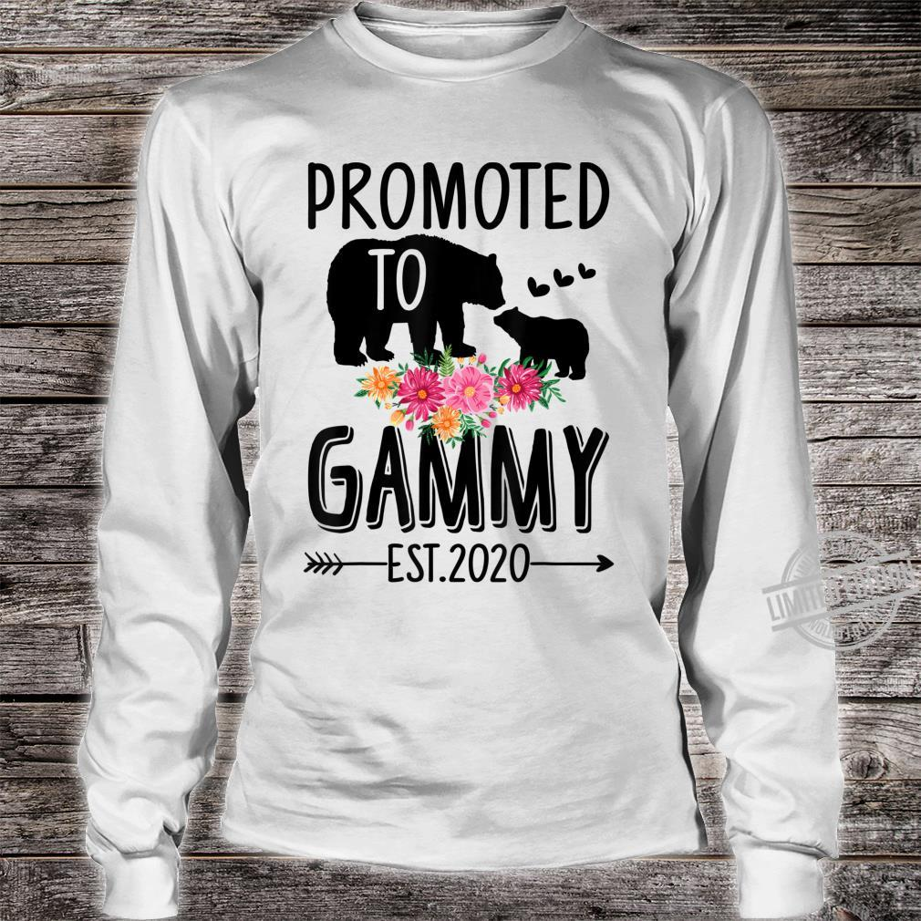 Bear Promoted to Gammy Est 2020 Mother's Day Shirt long sleeved