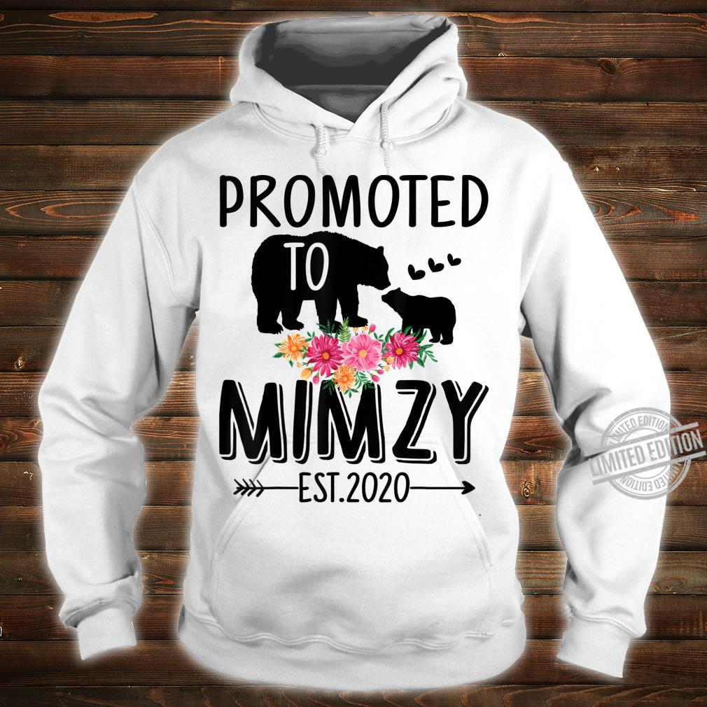 Bear Promoted to Mimzy Est 2020 Mother's Day Shirt hoodie