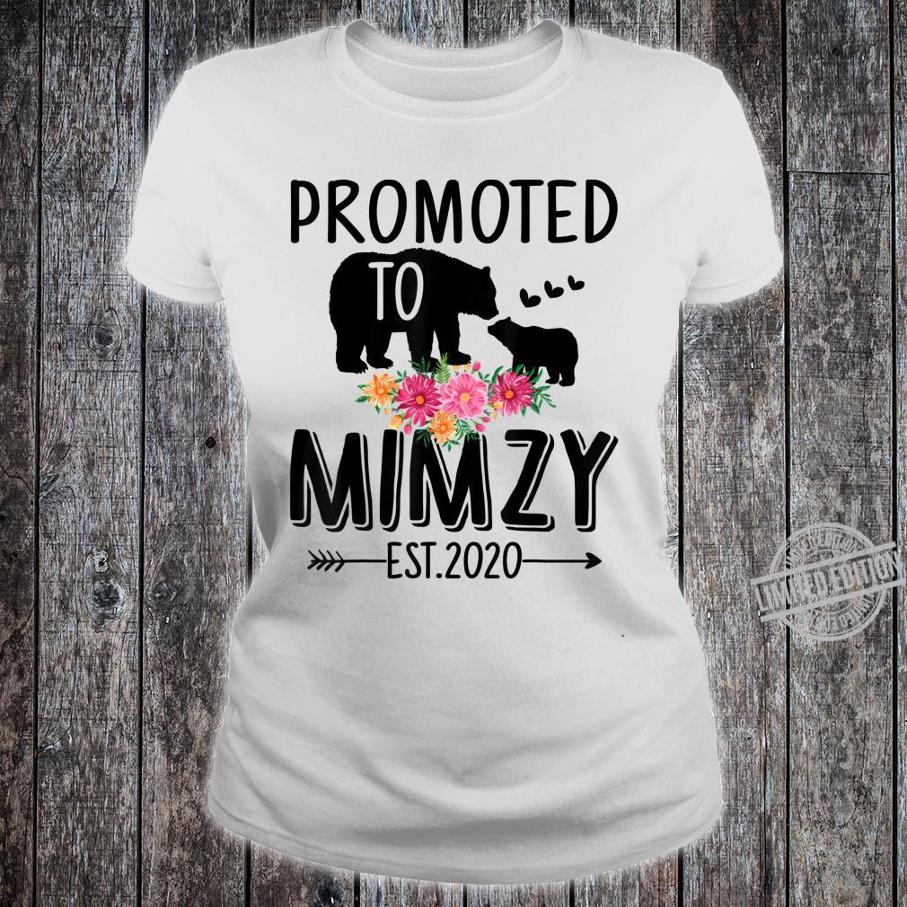 Bear Promoted to Mimzy Est 2020 Mother's Day Shirt ladies tee