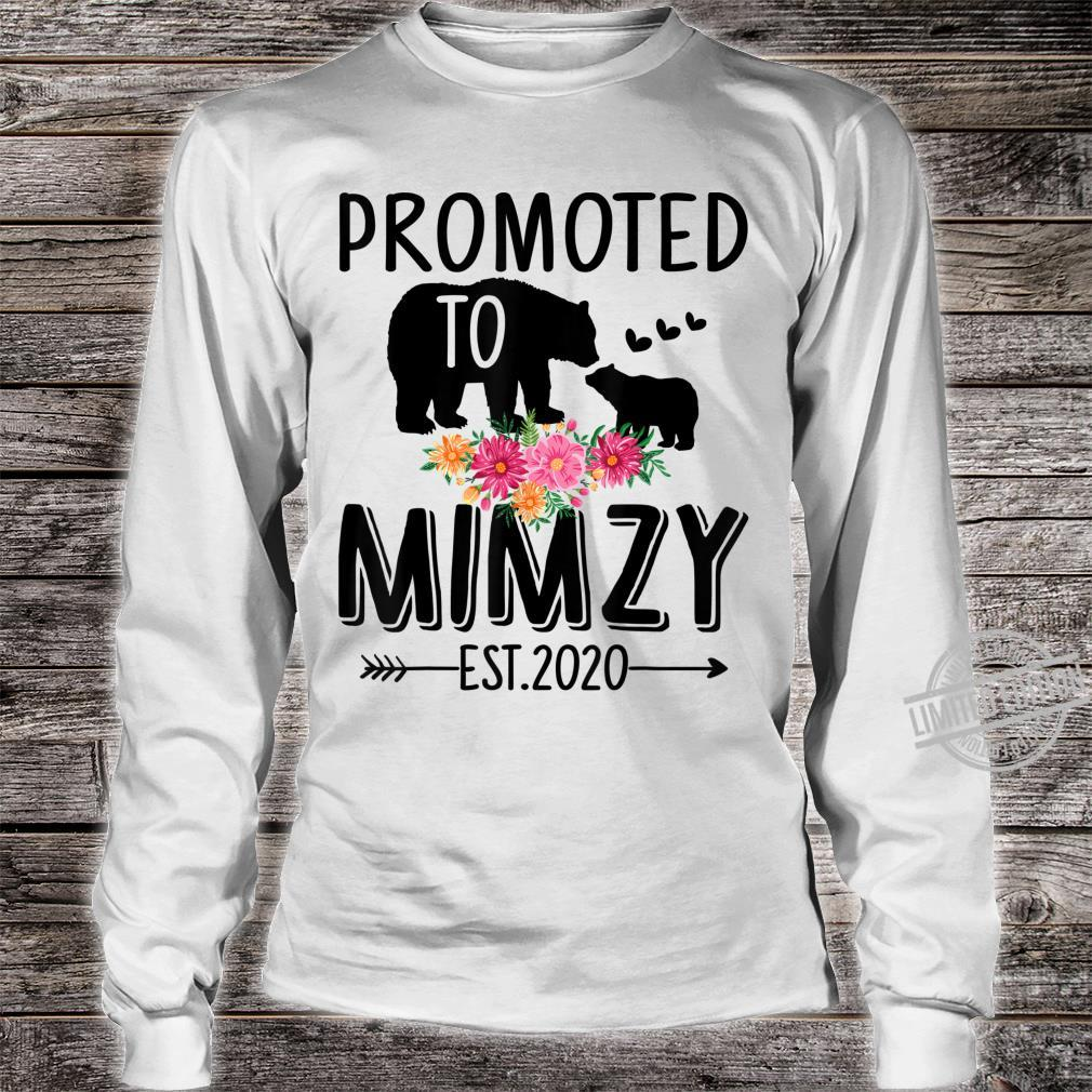 Bear Promoted to Mimzy Est 2020 Mother's Day Shirt long sleeved