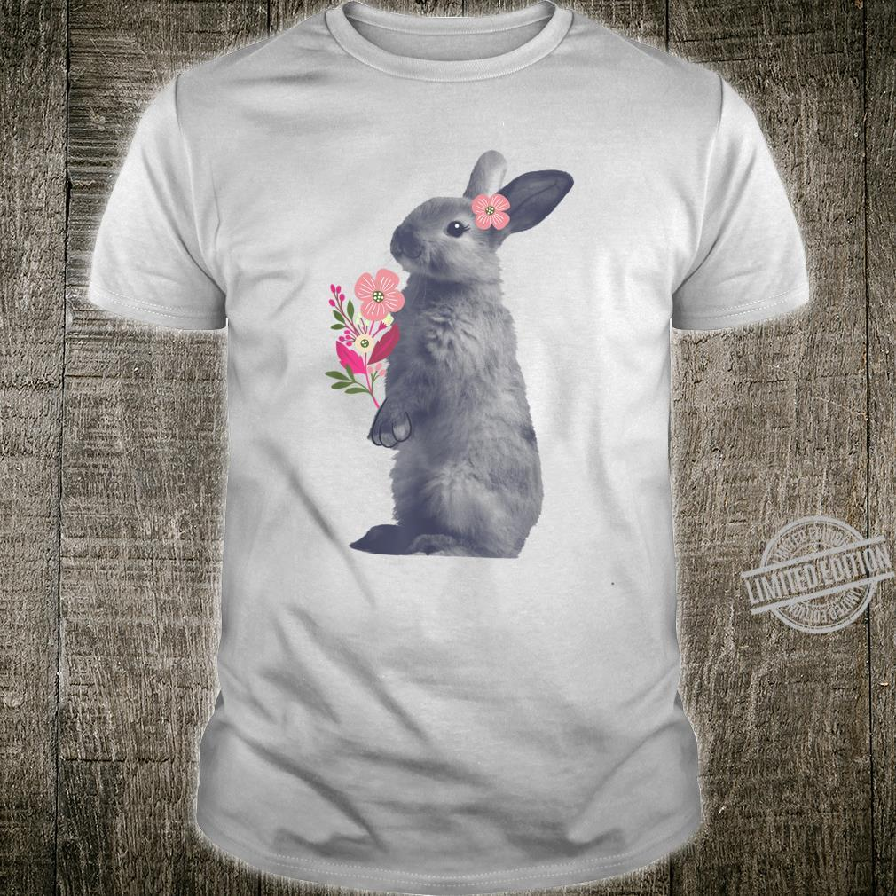 Beautiful Easter Bunny Vintage Floral Easter Shirt