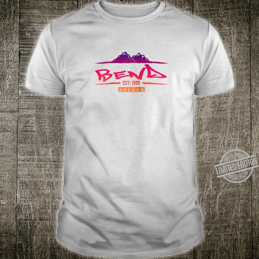 Bend Oregon Mountain Street Shirt