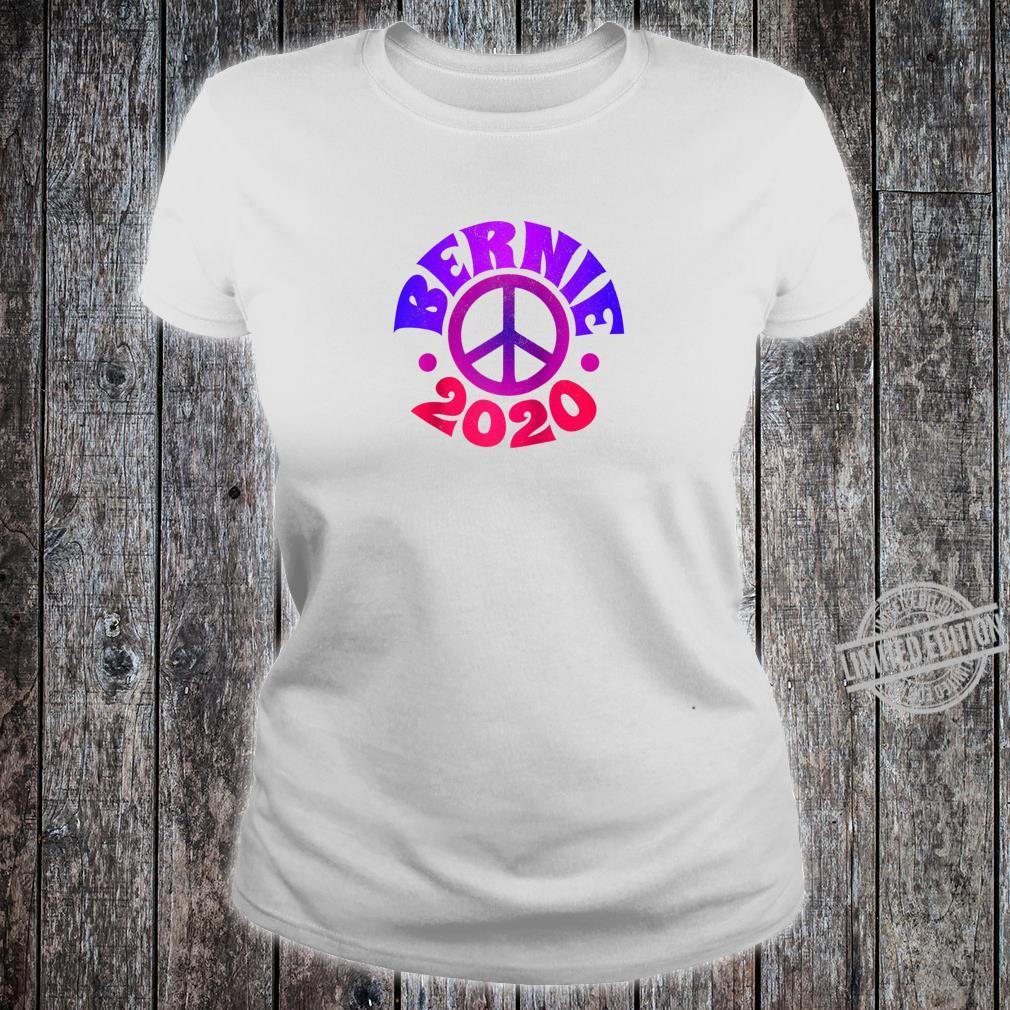 Bernie 2020 Shirt Bernie Sanders Vintage Peace Sign Hippie Shirt ladies tee