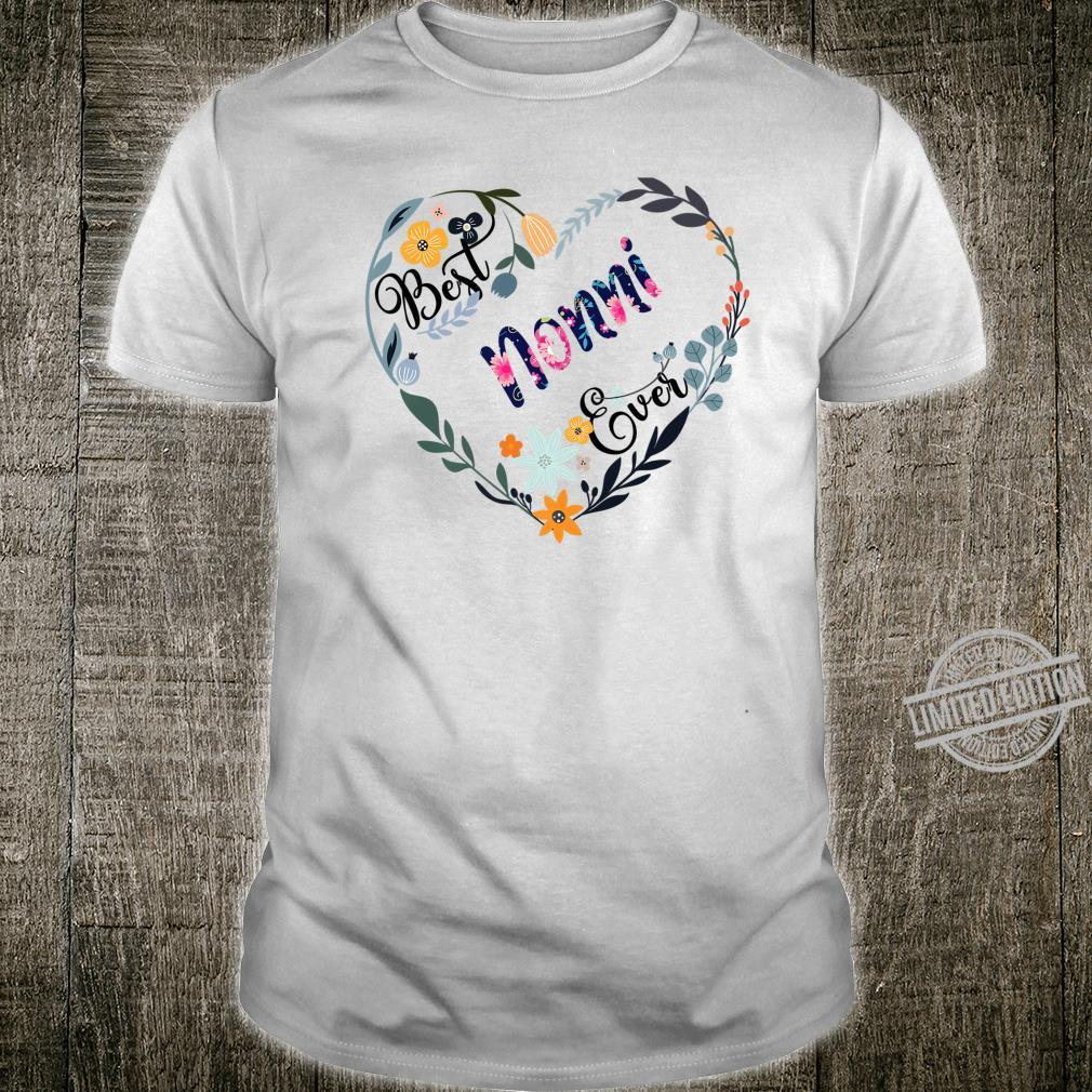 Best Nonni Ever Flower Blessed Grandma Mother's Day Shirt