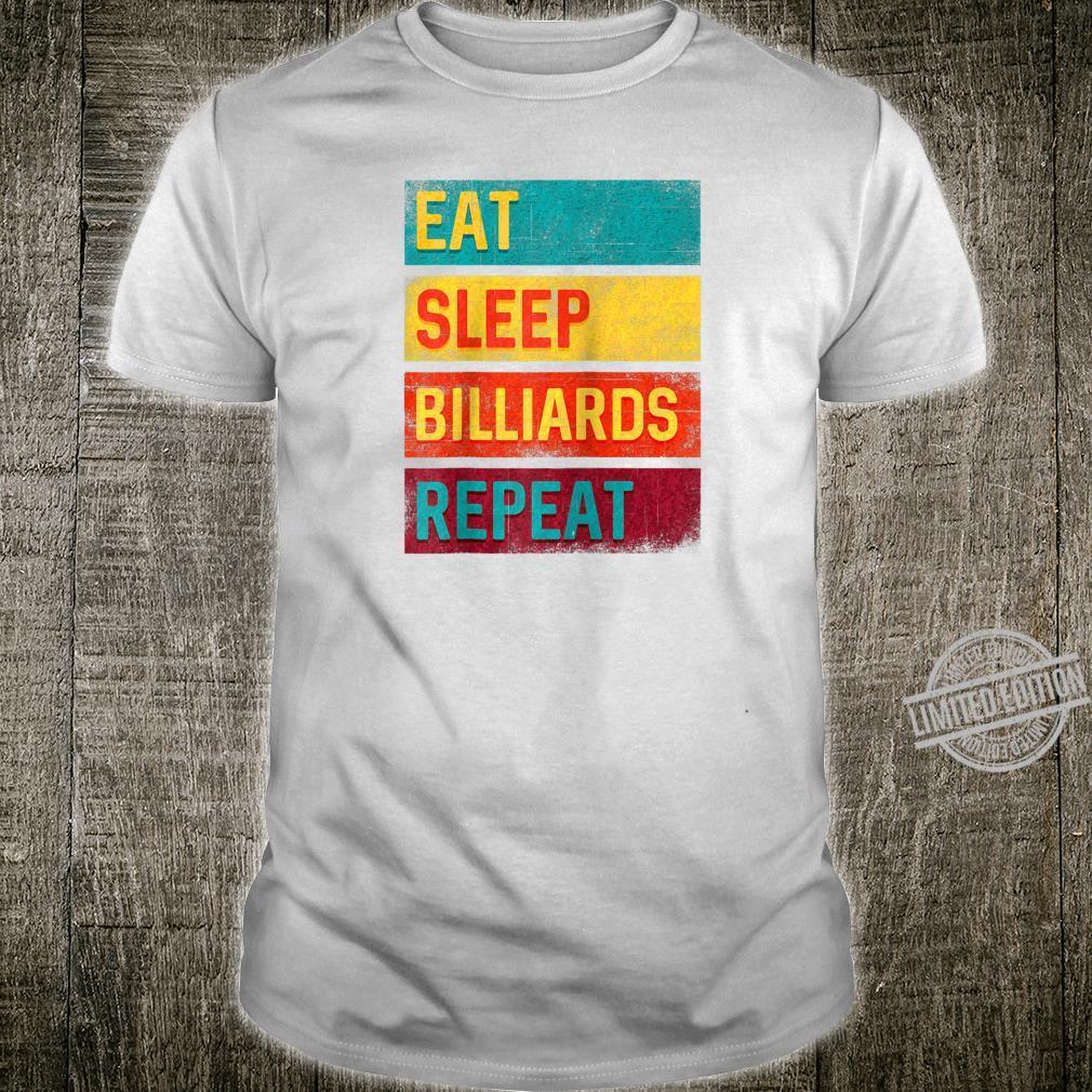 Billiards Game Pool Player Eat Sleep Billiards Repeat Shirt