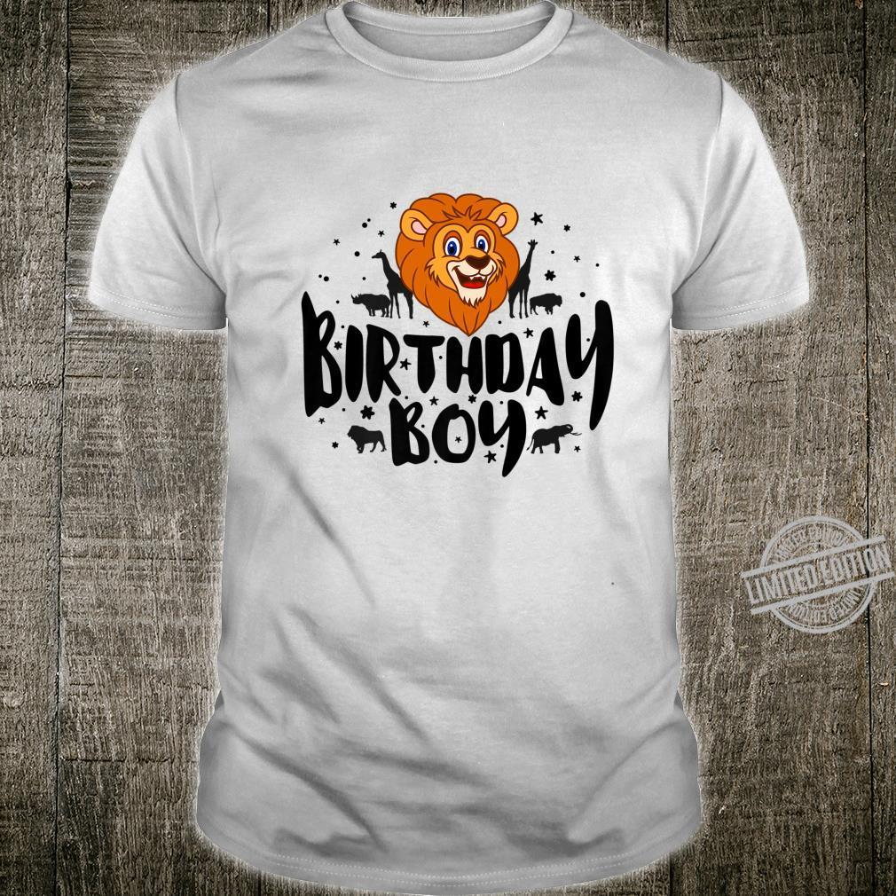 Birthday Boy cute Safari birthday party family matching Shirt
