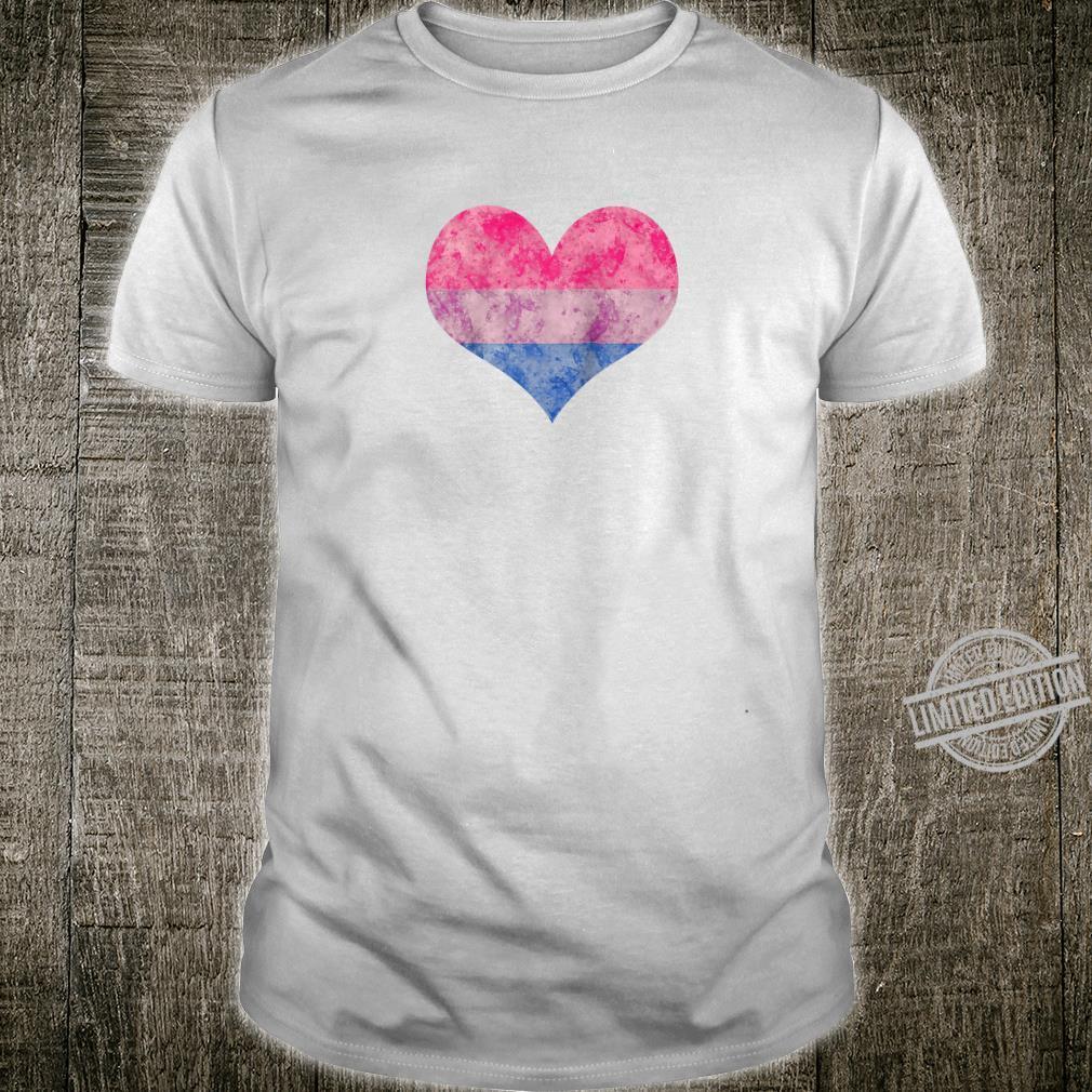 Bisexual Pride Watercolor Heart Shirt