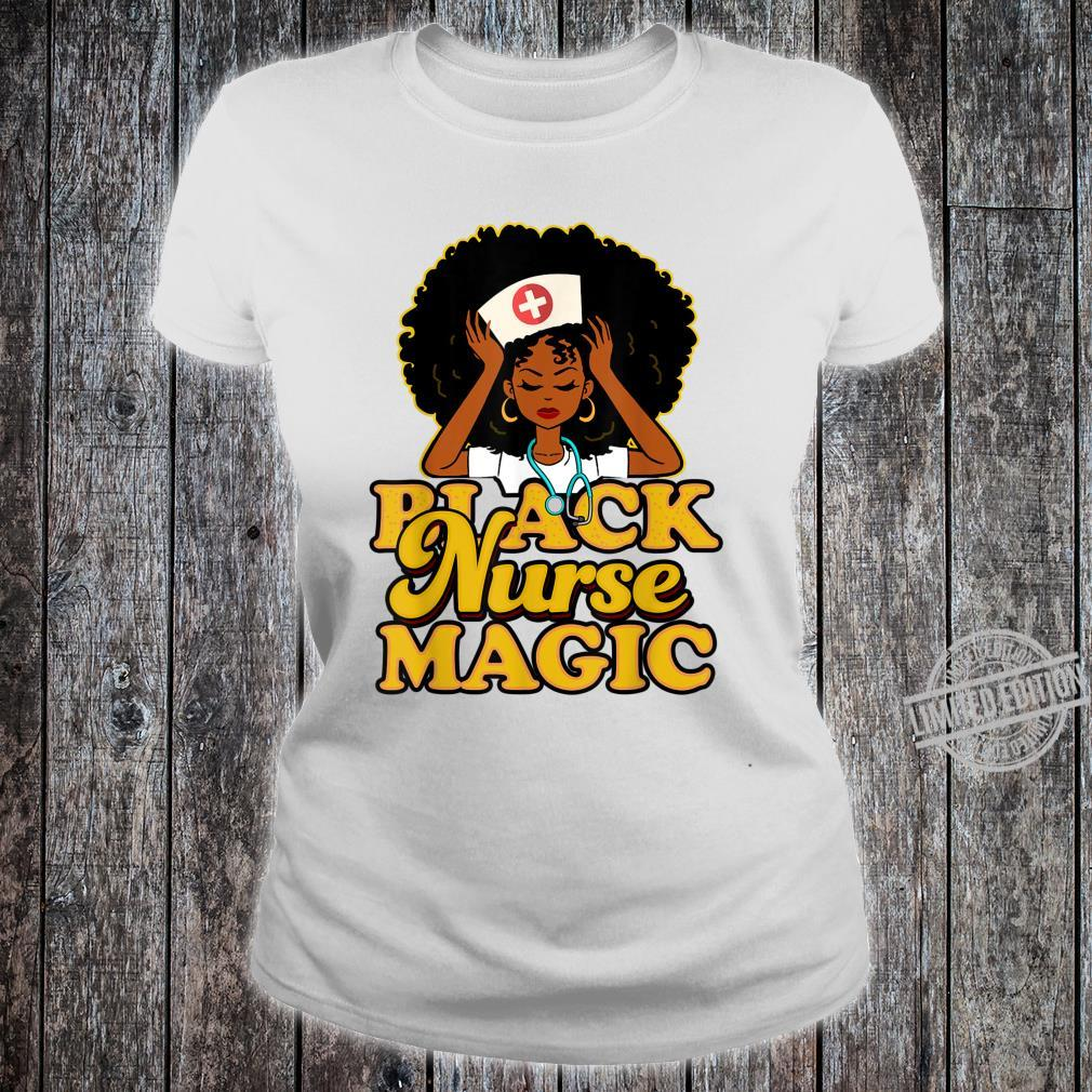 Black Girl Magic Black Shirt ladies tee