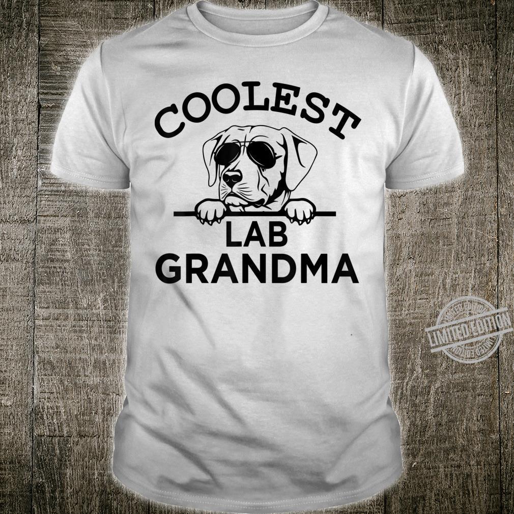 Black Labrador Mom Coolest Lab Grandma Shirt