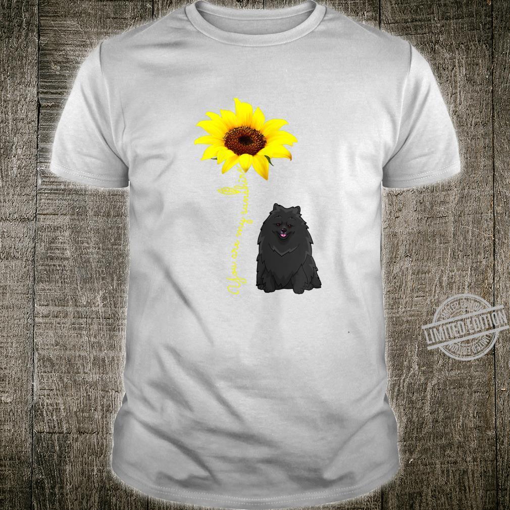 BlackPomeranian Pom Mom You My SunshineSunflower Shirt