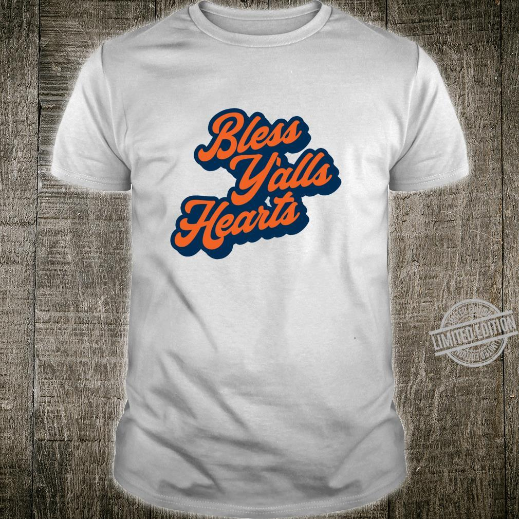 Bless Y'alls Hearts Simple Typography Southern Saying Langarmshirt Shirt
