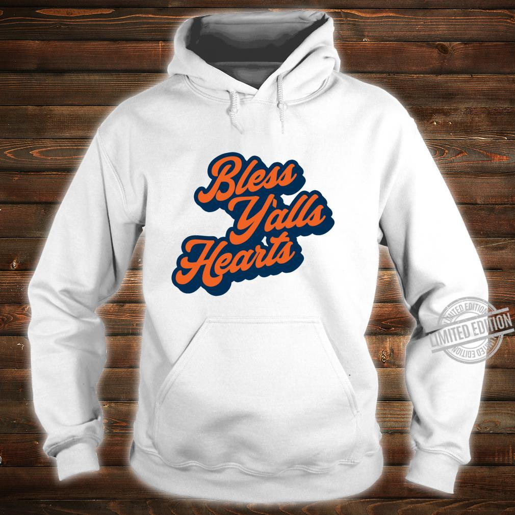 Bless Y'alls Hearts Simple Typography Southern Saying Langarmshirt Shirt hoodie