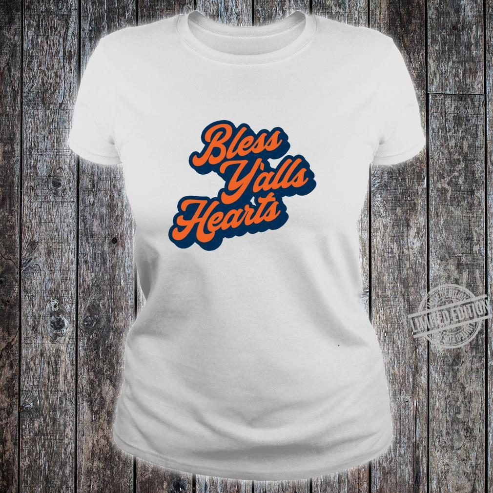 Bless Y'alls Hearts Simple Typography Southern Saying Langarmshirt Shirt ladies tee