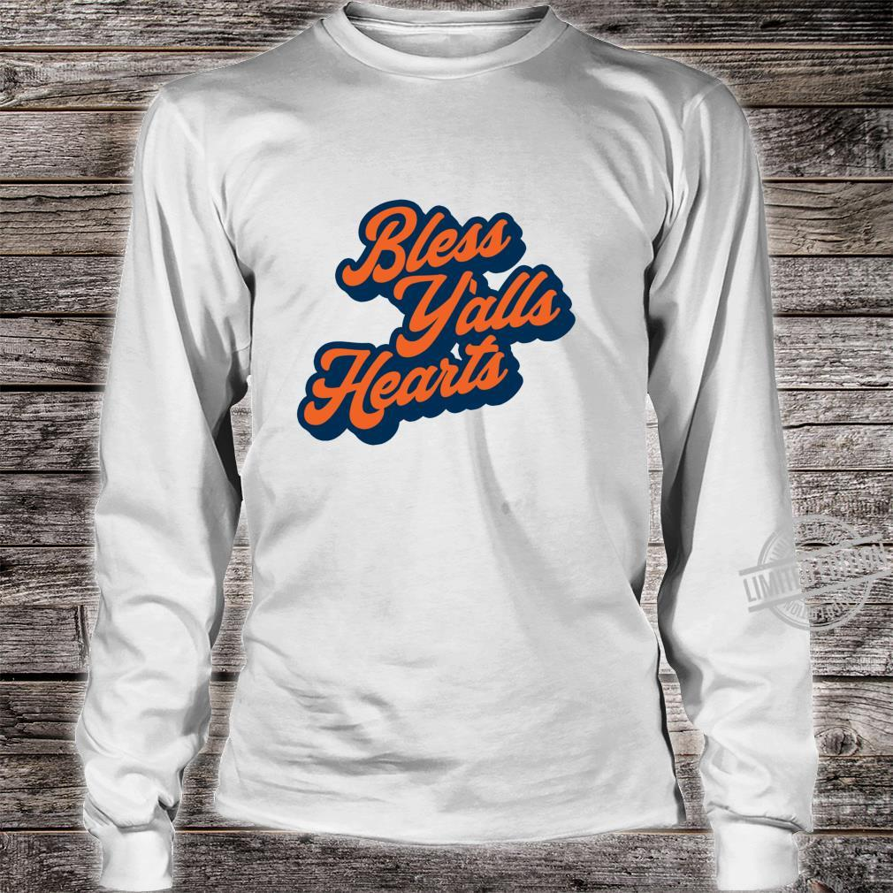 Bless Y'alls Hearts Simple Typography Southern Saying Langarmshirt Shirt long sleeved
