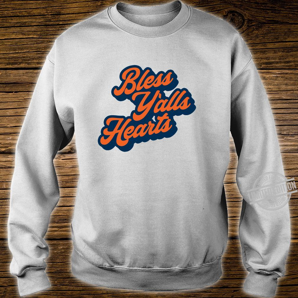 Bless Y'alls Hearts Simple Typography Southern Saying Langarmshirt Shirt sweater