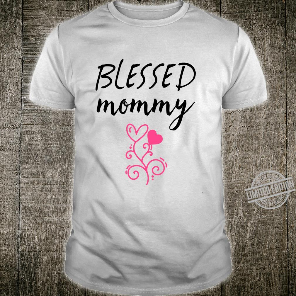Blessed Mommy Shirt,Badass Mama Wife Mom Boss Blessed Momma Shirt