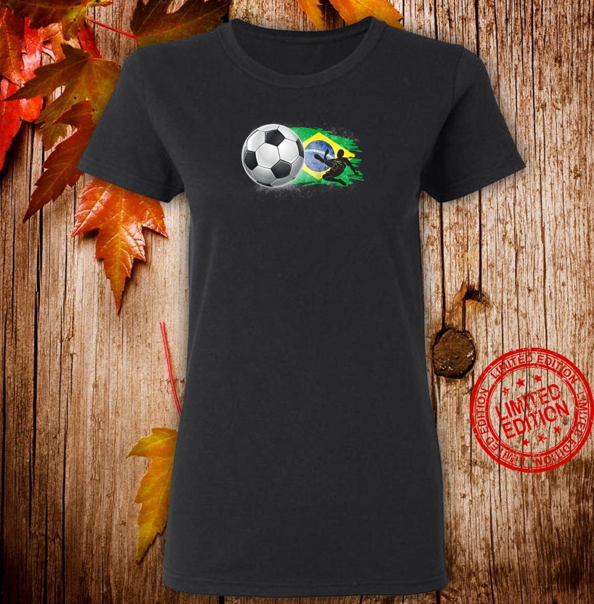 Brazil Cheer Jersey 2018 Football Brazilian Flag Design Shirt ladies tee