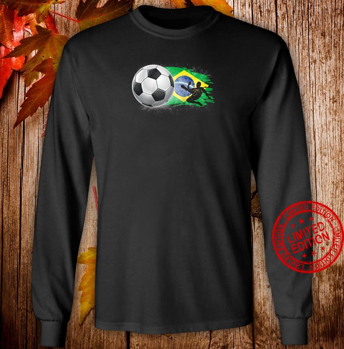 Brazil Cheer Jersey 2018 Football Brazilian Flag Design Shirt long sleeved
