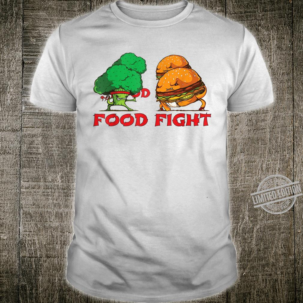 Broccoli and Burger Fighting Food For Martial Artss Shirt