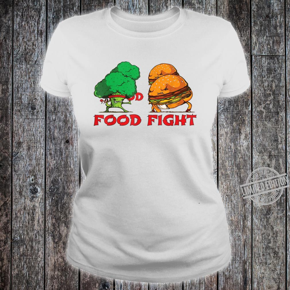 Broccoli and Burger Fighting Food For Martial Artss Shirt ladies tee
