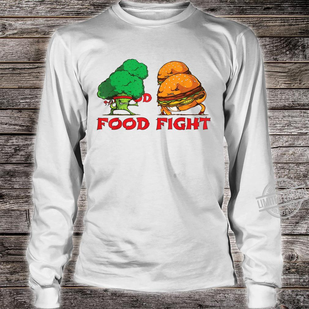 Broccoli and Burger Fighting Food For Martial Artss Shirt long sleeved