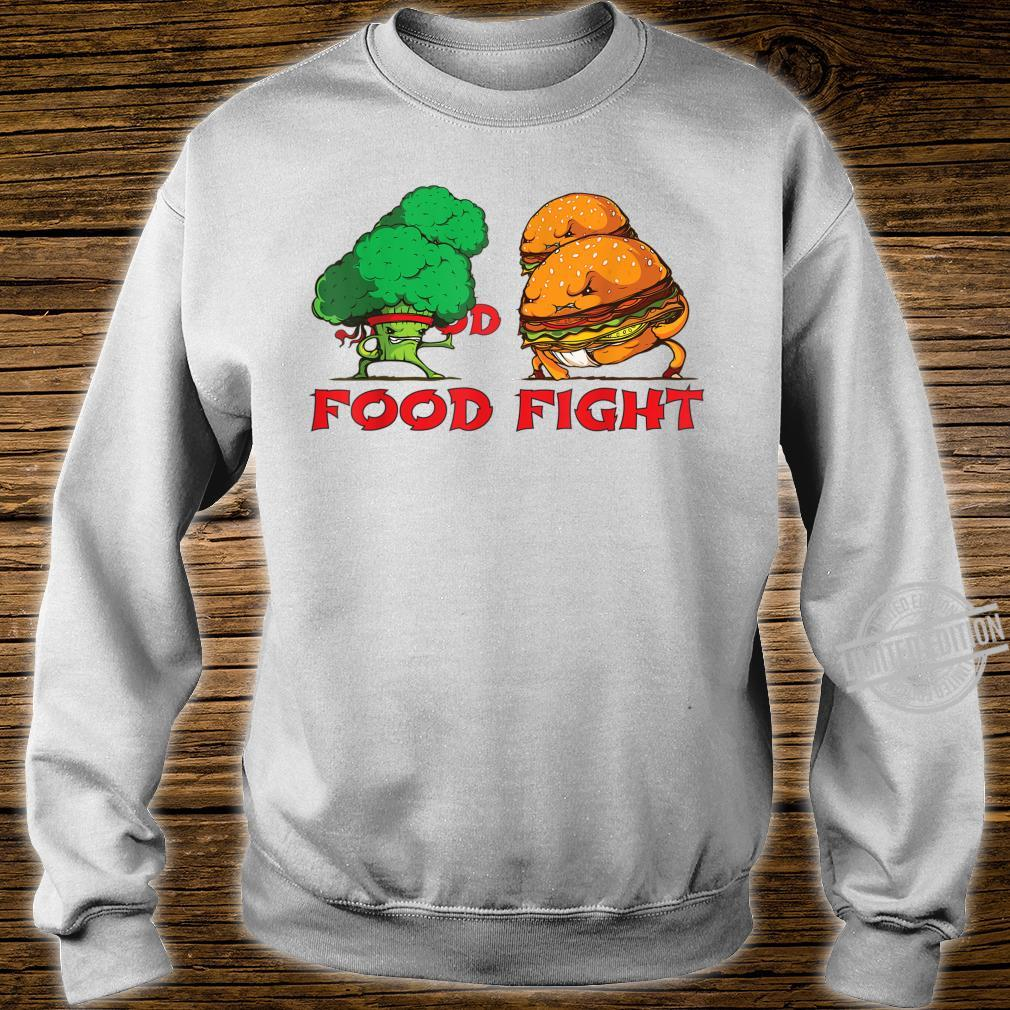 Broccoli and Burger Fighting Food For Martial Artss Shirt sweater