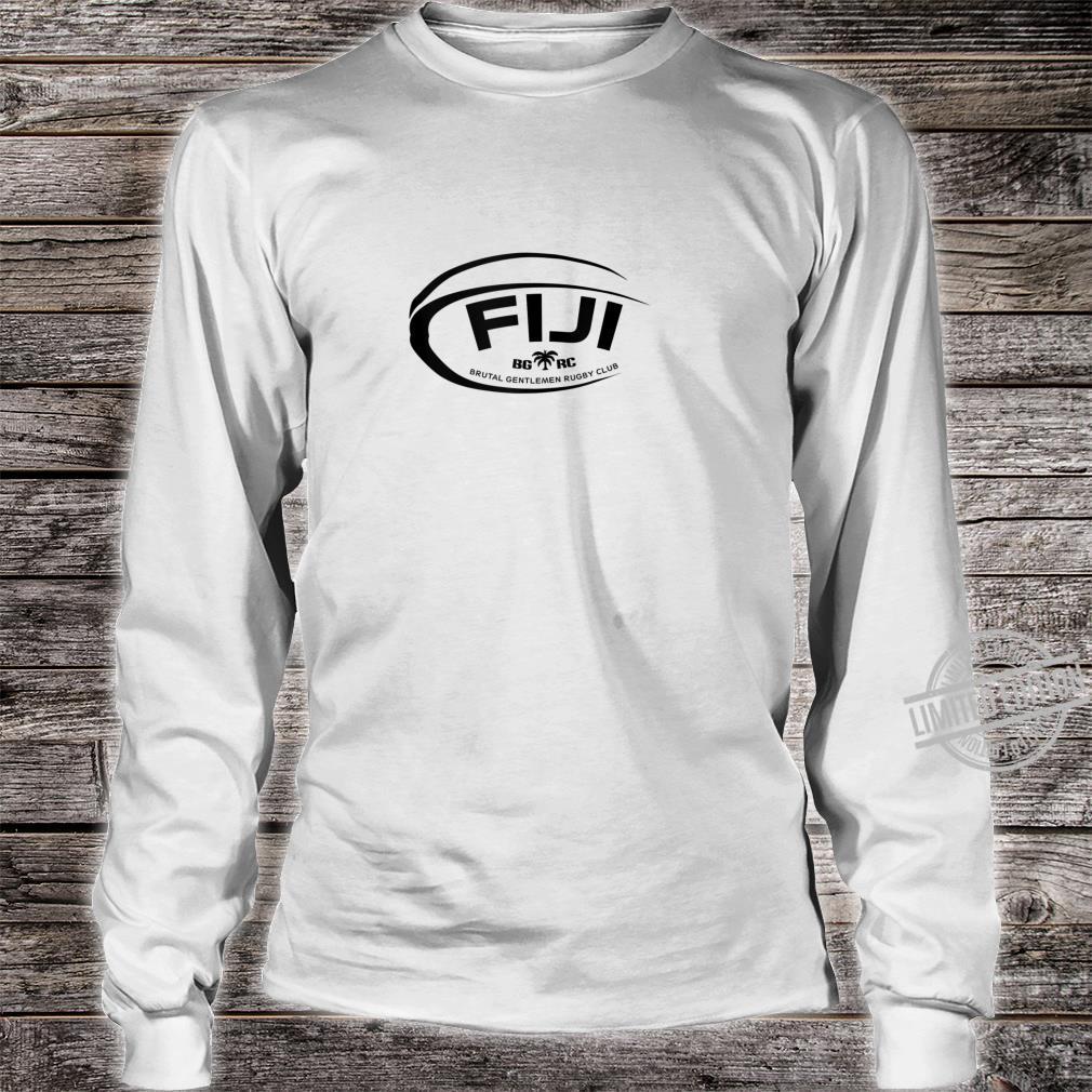 Brutal Gentlemen Fiji Rugby Football Icon Shirt long sleeved