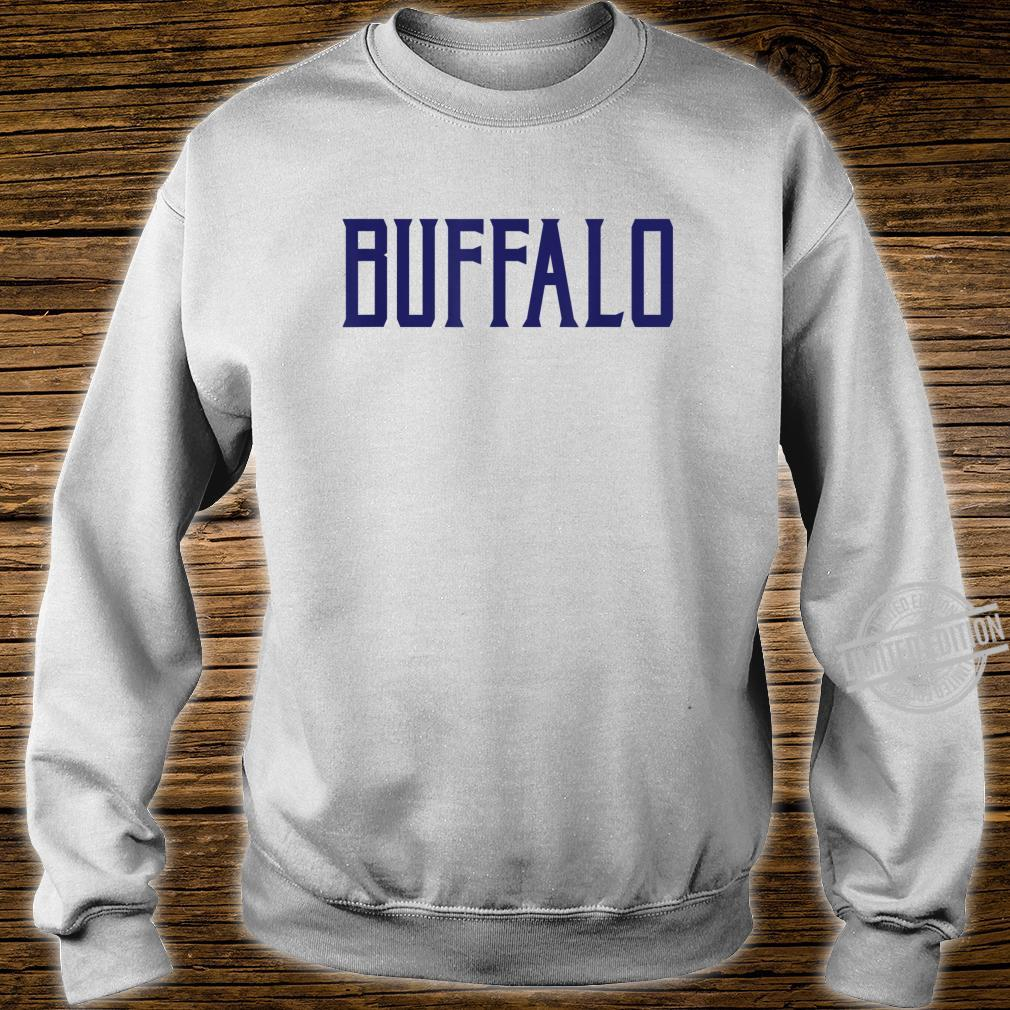 Buffalo Vintage Text Navy Blue Print Shirt sweater