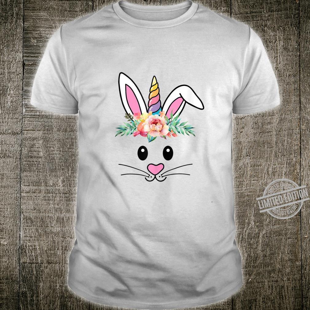 Bunny Face Easter Day Unicorn Idaes Shirt