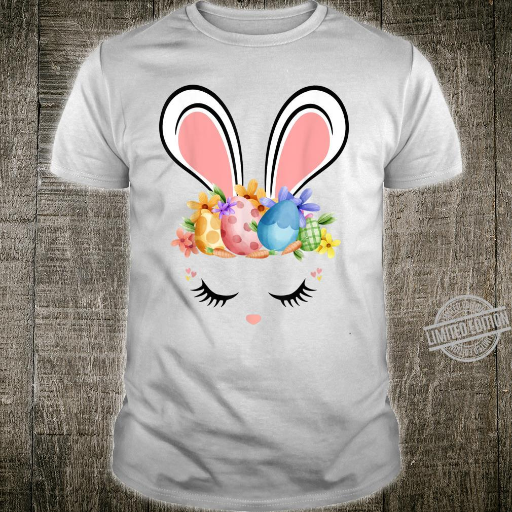 Bunny Face With Easter Eggs Cute Easter For Girls Shirt