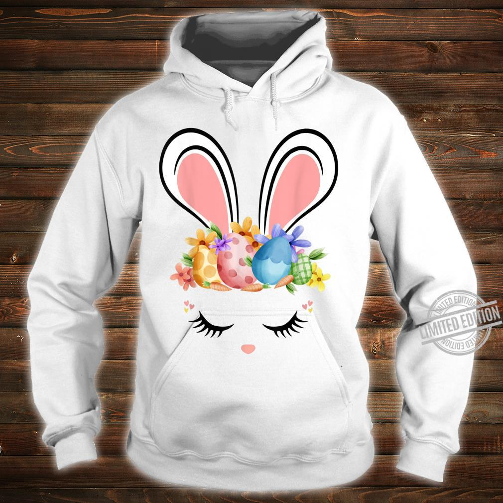 Bunny Face With Easter Eggs Cute Easter For Girls Shirt hoodie