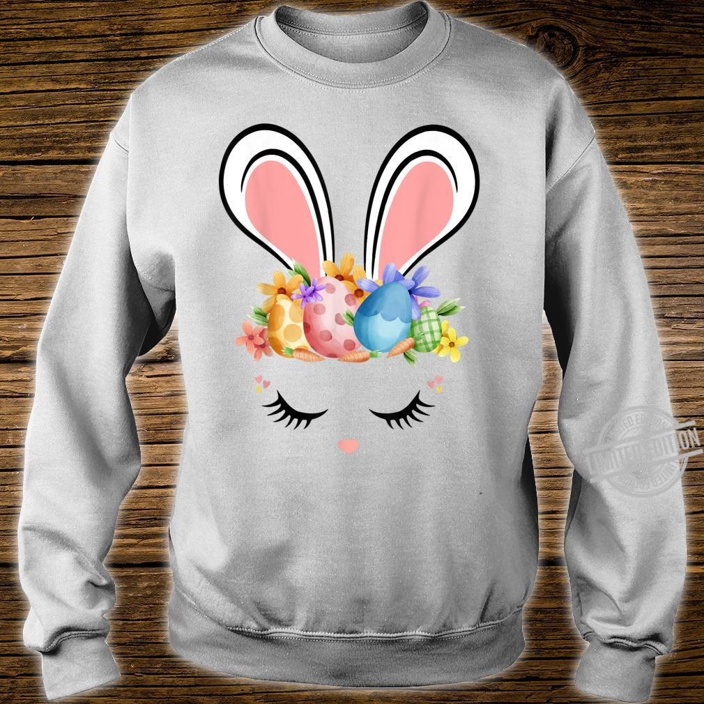 Bunny Face With Easter Eggs Cute Easter For Girls Shirt sweater