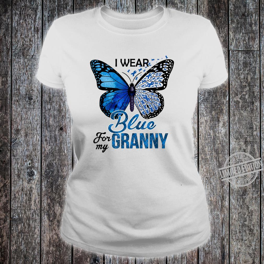 Butterfly I Wear Blue For Granny Colon Cancer Awareness Shirt
