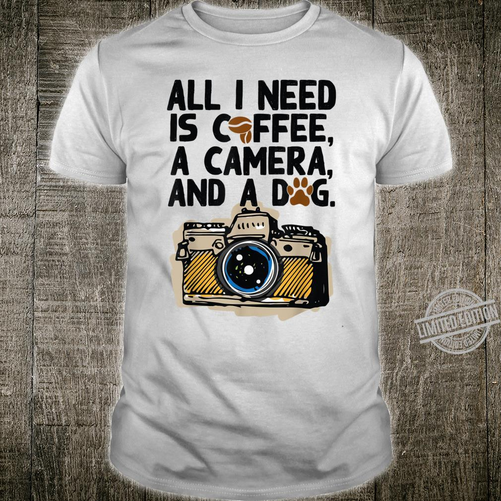 Camera Photography Coffee Dogs Shirt
