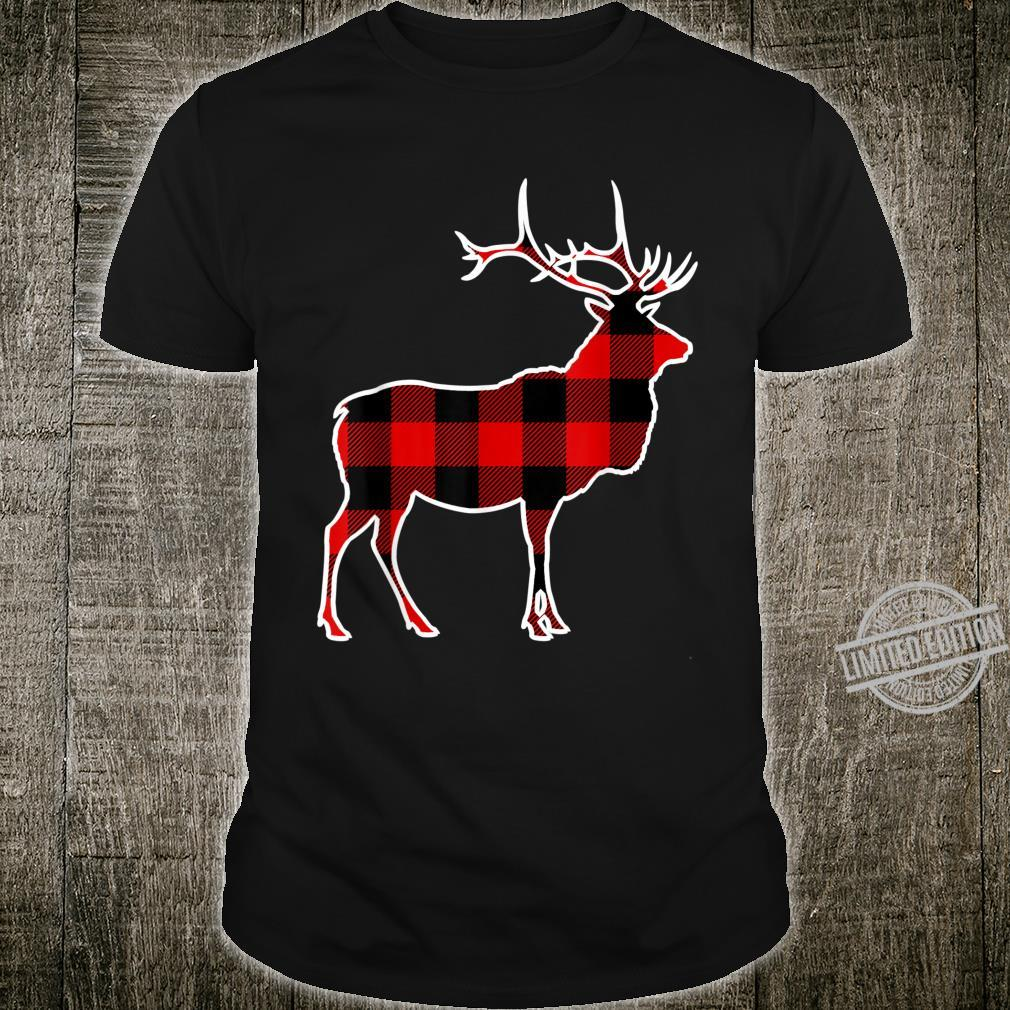 Caribou Red Buffalo Plaid Stag Doe Matching PJ Family Shirt