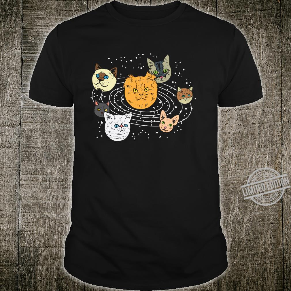 Cat Faces Planets Solar System Space Animals Pet Shirt