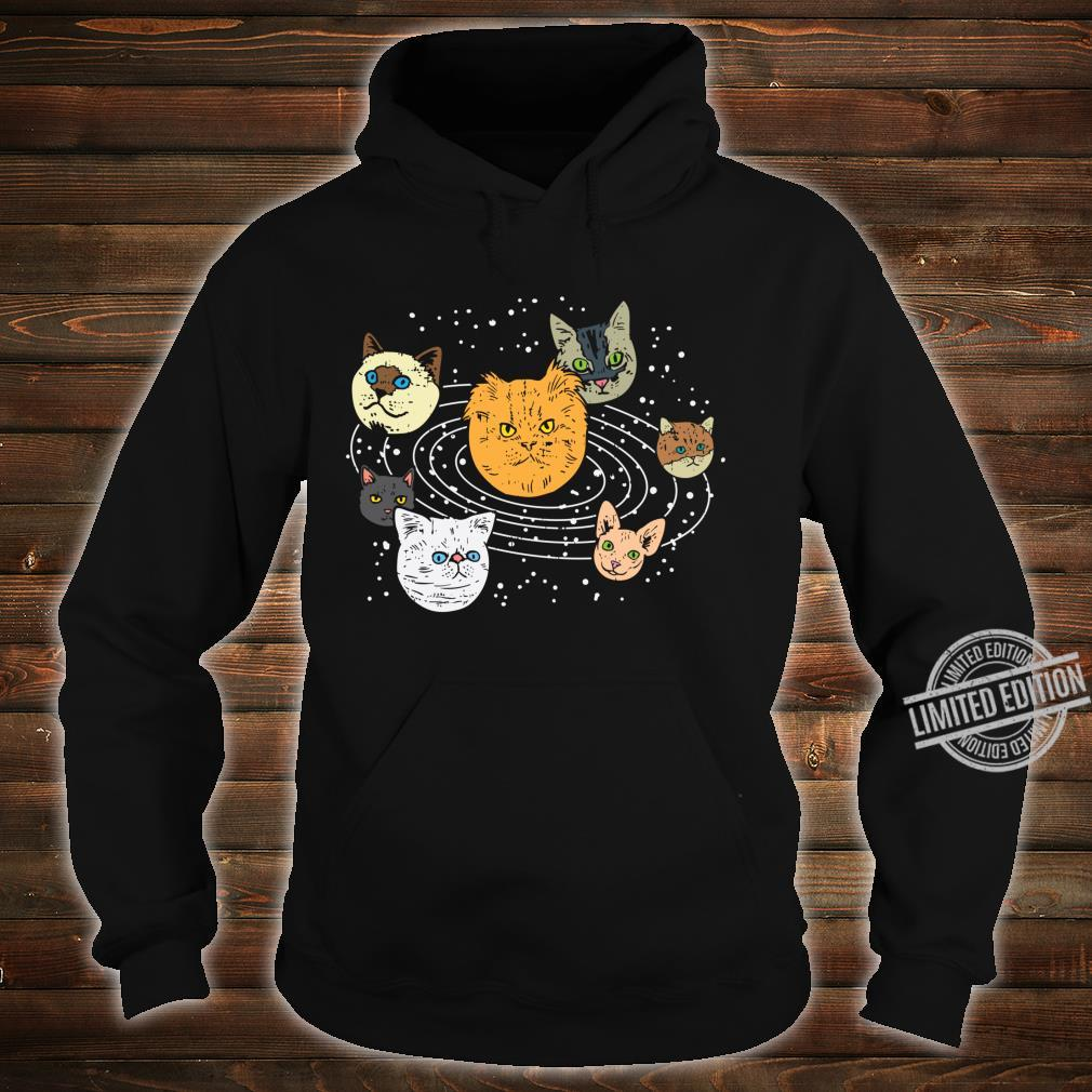 Cat Faces Planets Solar System Space Animals Pet Shirt hoodie