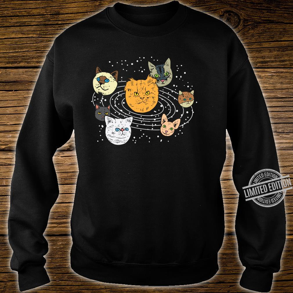 Cat Faces Planets Solar System Space Animals Pet Shirt sweater