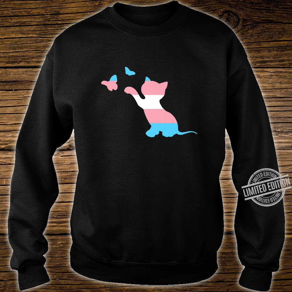 Cat Trans Pride Flag for Transgender FTM MTF Cats Shirt sweater