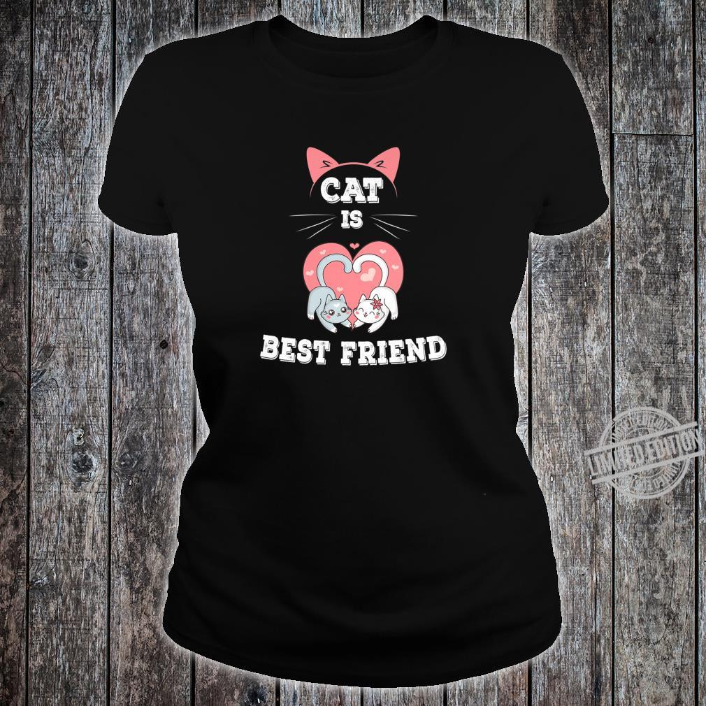 Cat is Best Friend EverI fall in Love with My Kitty Shirt ladies tee