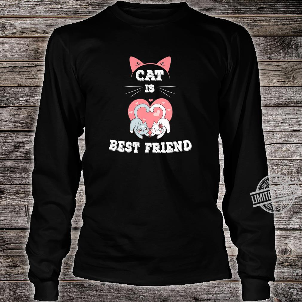 Cat is Best Friend EverI fall in Love with My Kitty Shirt long sleeved