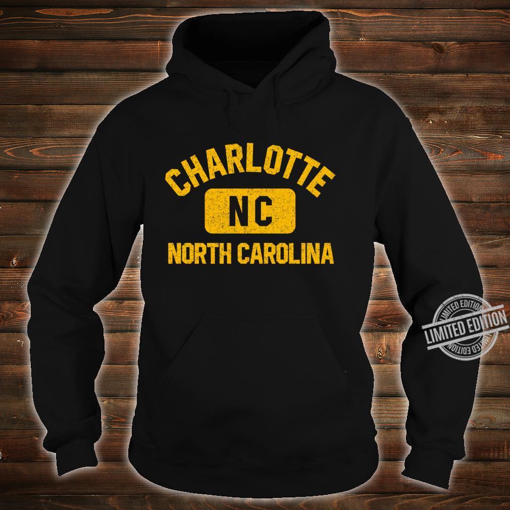 Charlotte NC Gym Style Distressed Amber Print Shirt hoodie