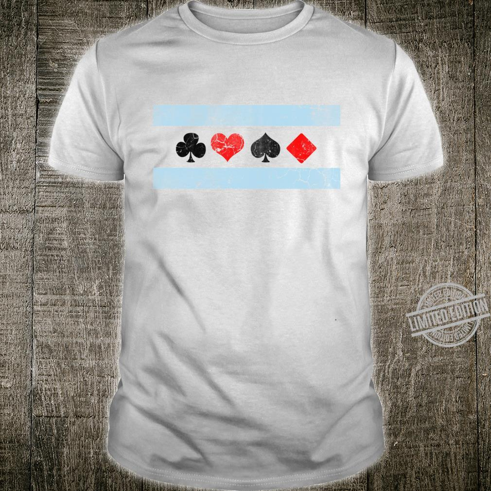Chicago Flag Poker Gambling Hold Em Black Jack Shirt