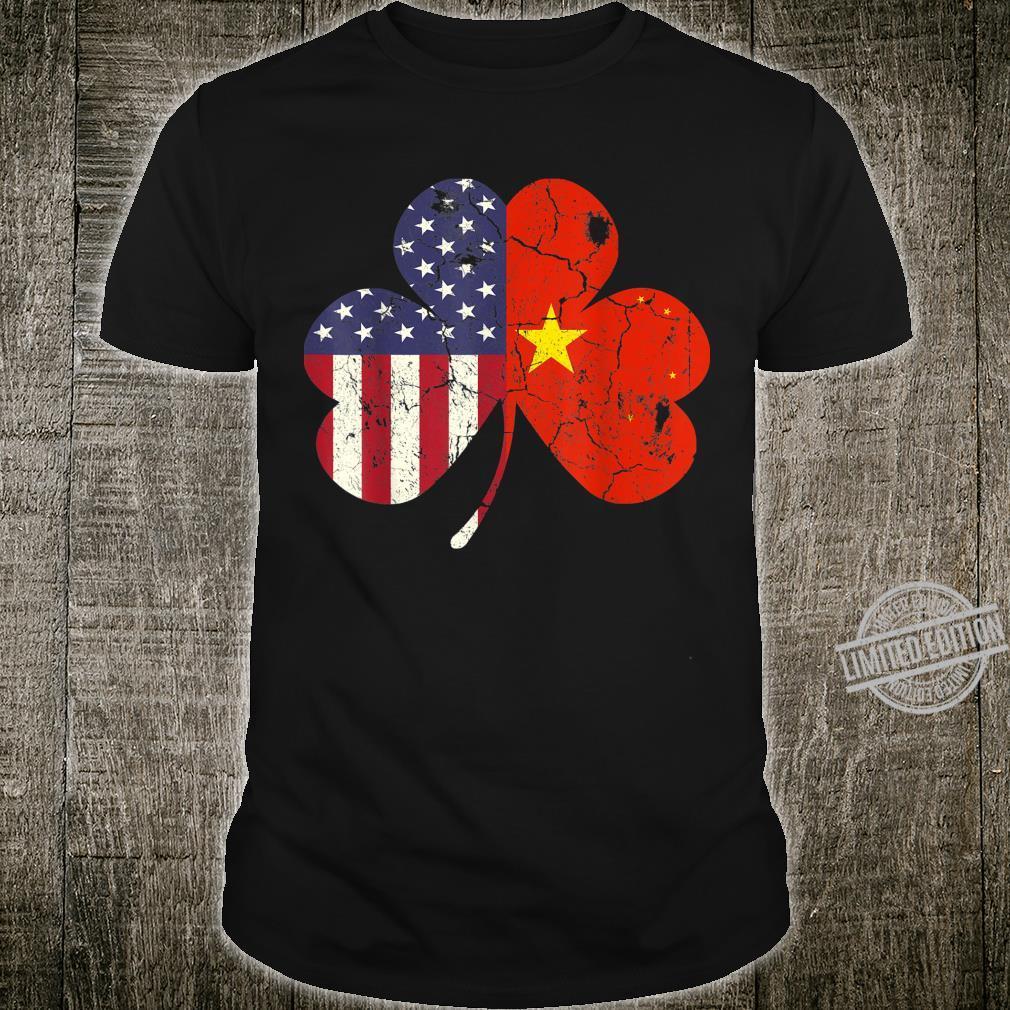 Chinese Flag St Patrick's Day Irish Shamrock China Shirt
